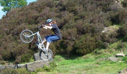 me bk wheeling a small rock